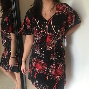 NWT London Style Cap Sleeve Floral Dress Plus 20W